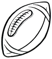 Football Outline Image | Clipart Panda - Free Clipart Images