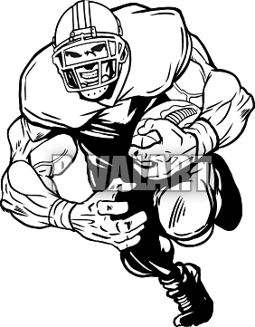 Football Player Running Clip Art Clipart Panda Free