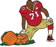 Football Player Clip Art
