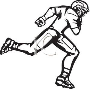 football player clipart black and white clipart panda free rh clipartpanda com playing football clipart black and white