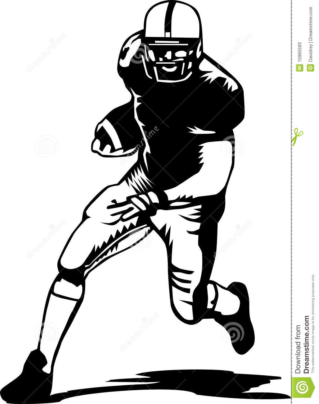 American Football Field Black And White | Clipart Panda - Free Clipart ...
