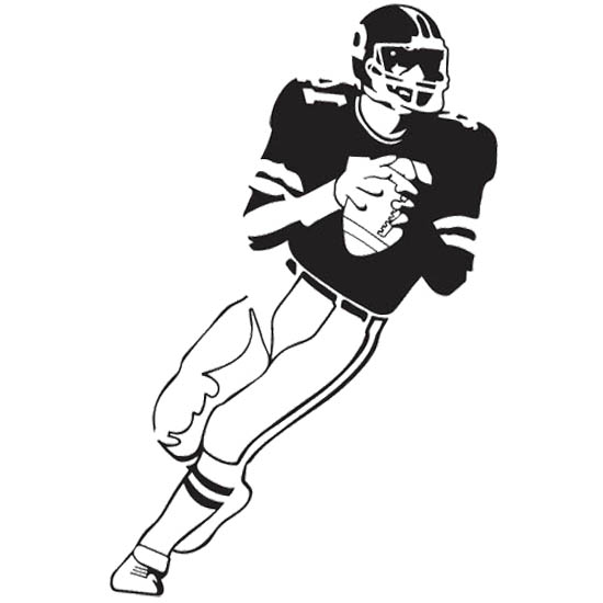 american football player coloring pages - photo#4