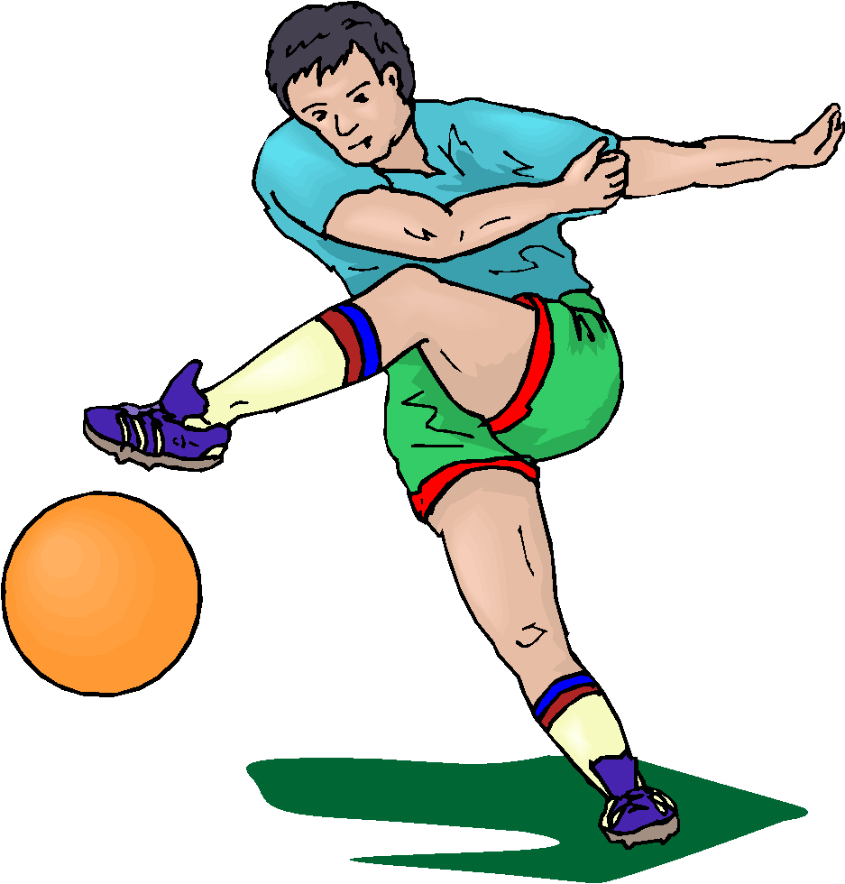 Football Player Running Without The Ball