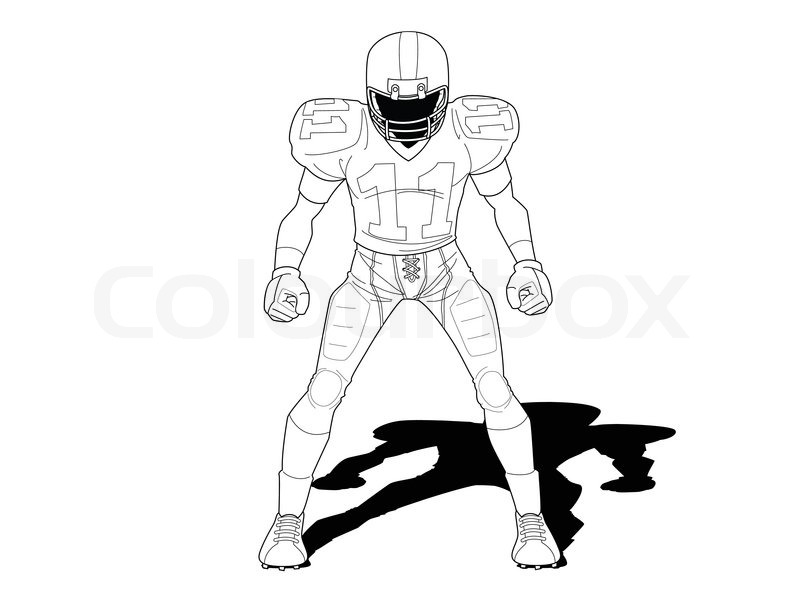 Line Drawing Football : Image gallery nfl football player drawings