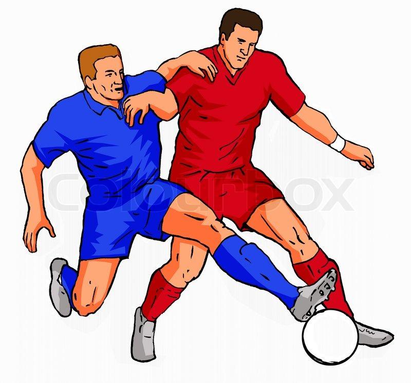Football Player Tackling Cartoon | Clipart Panda - Free Clipart Images