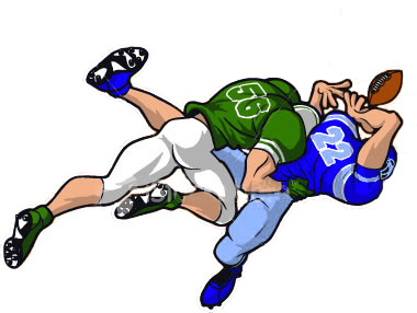 Football Player Tackling Cartoon | Clipart Panda - Free ...