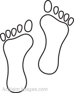 set of footprints clip art clipart panda free clipart images rh clipartpanda com  human footprint clipart free