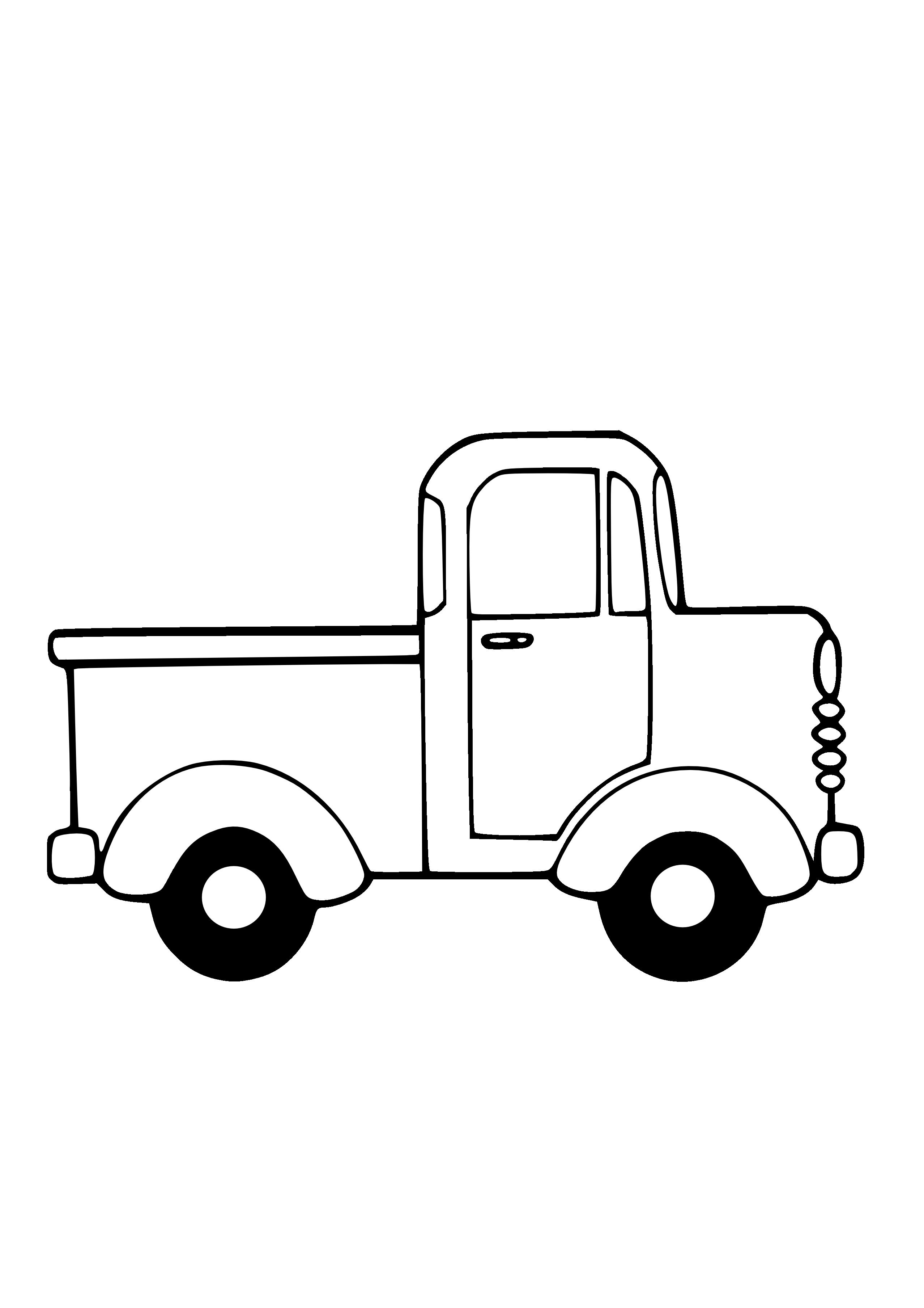 Line Art Cartoon Toys Vector : Pickup truck clipart black and white panda
