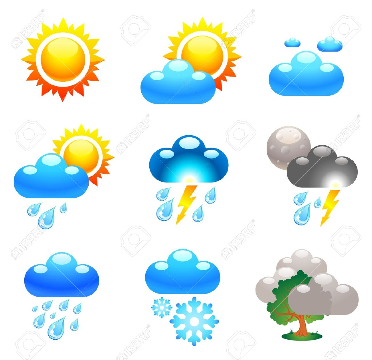Weather Animations Clip Art