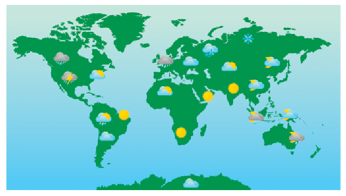 World Weather Forecast Map and | Clipart Panda   Free Clipart Images