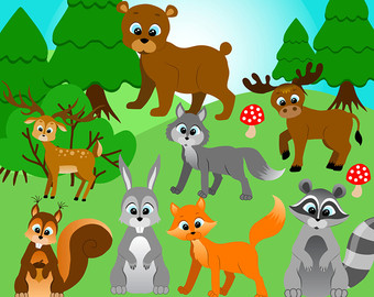 Forest animals clipart, Forest | Clipart Panda - Free Clipart Images