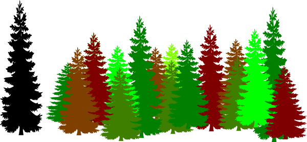 Forest Trees Clip Art forest 20trees 20clipart