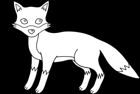 Fox Face Line Drawing : Fox clip art black and white clipart panda free
