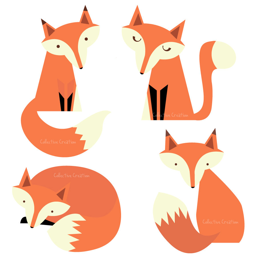 Fox Clip Art Black And White | Clipart Panda - Free Clipart Images