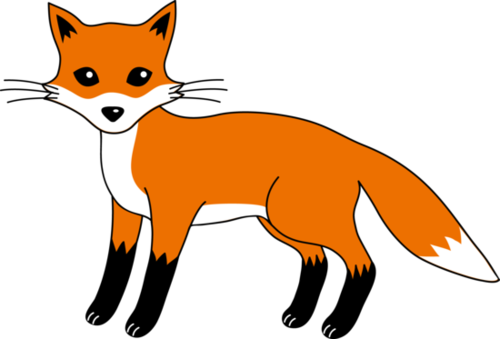 Fox Clip Art Black And White