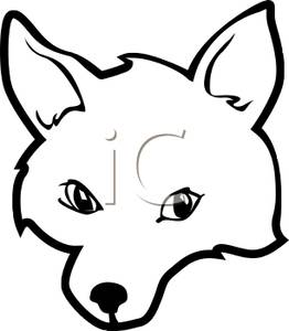 Aninimal Book: Fox Head Clipart Black And White | Clipart Panda - Free ...