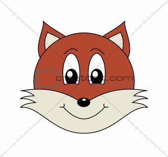 Cute cartoon fox face - photo#11