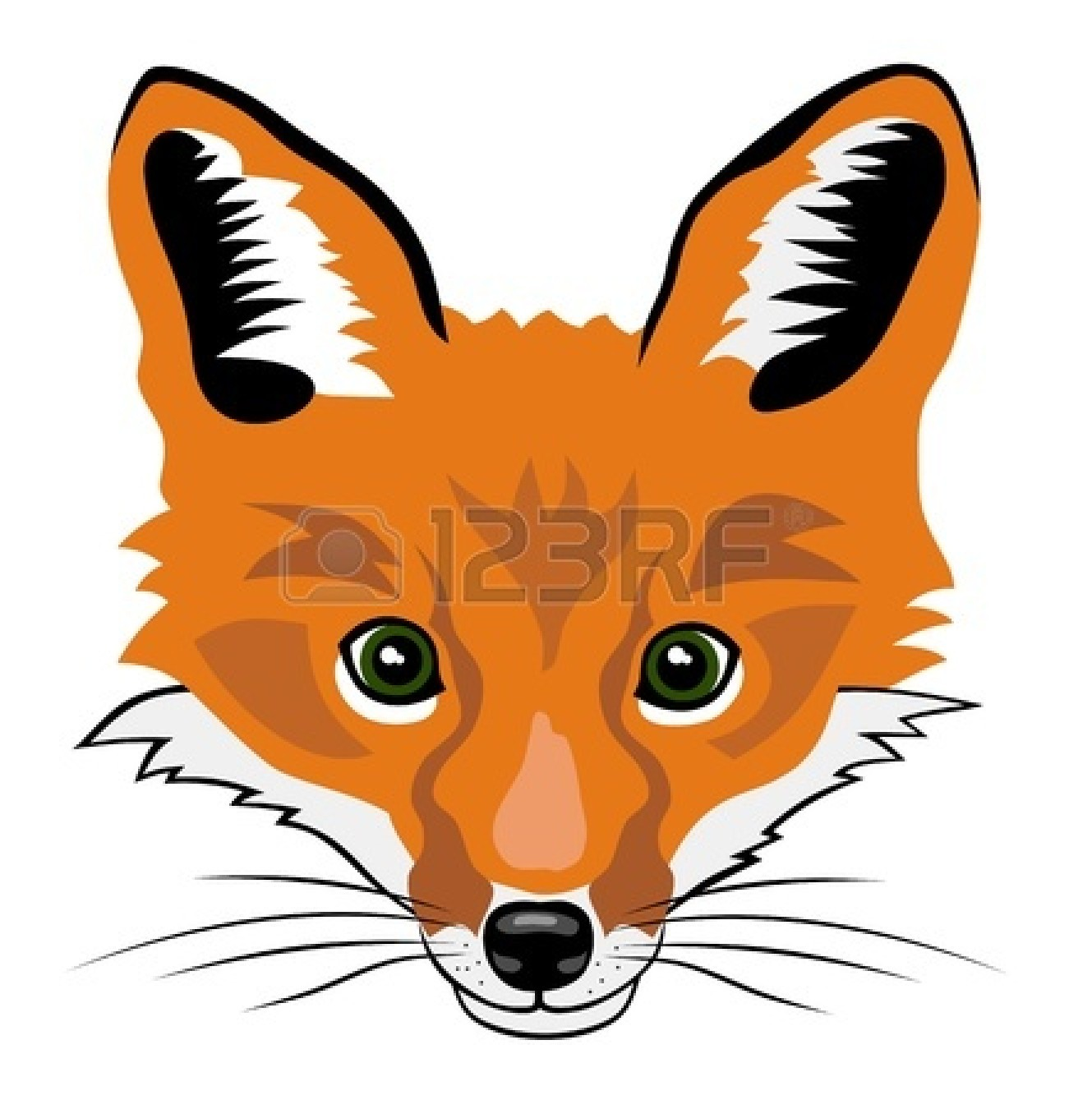 Fox Face Line Drawing : Fox clip art pictures to pin on pinterest daddy