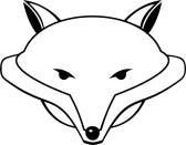 Fox head outline - photo#25