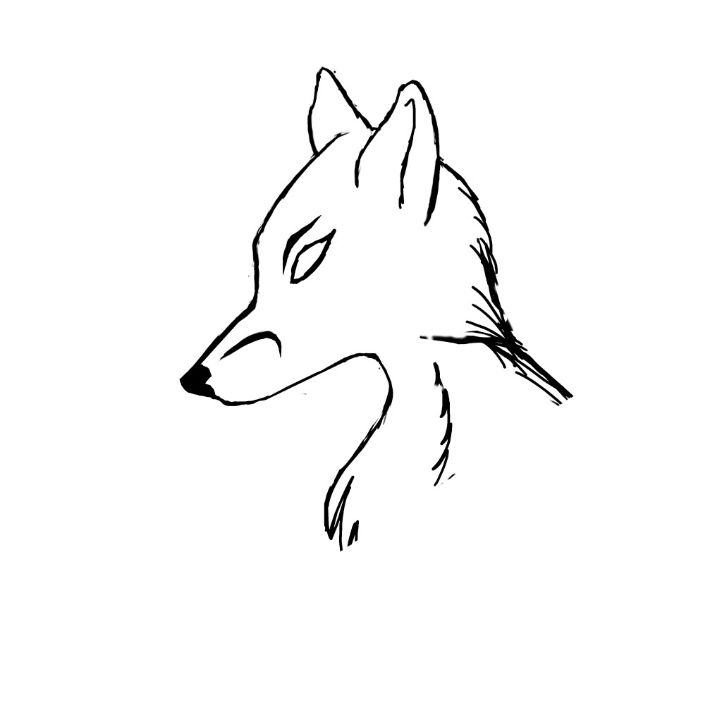 Fox Head Outline  Fox Head Outline