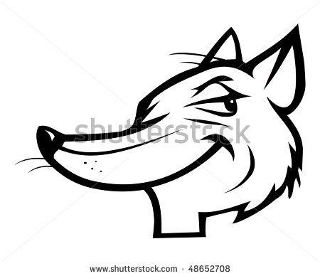 Fox head outline - photo#17