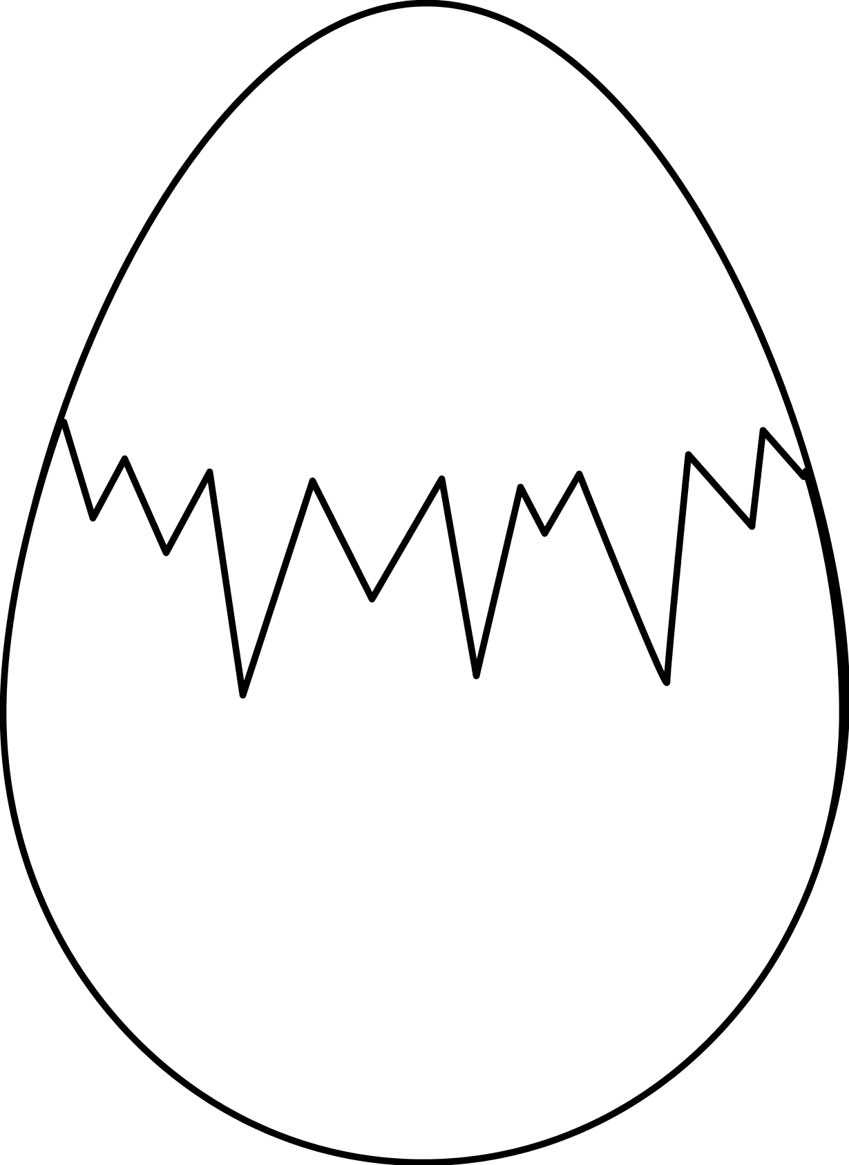 egg clipart black and white