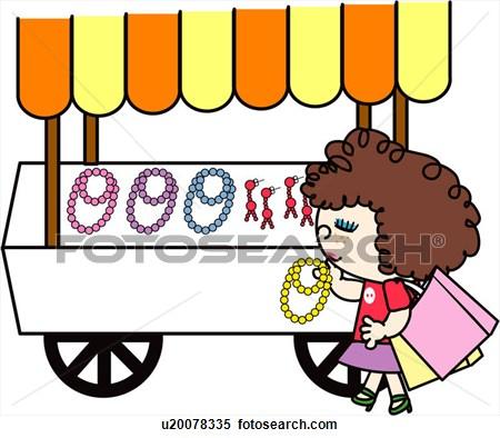 Clipart - street vendor, cart, | Clipart Panda - Free ...