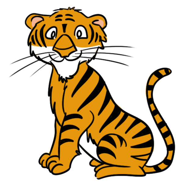 Tiger Clip Art free cartoon clipart · Tiger Clip Art
