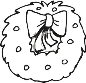 Black And White Wreath Clipart | New Calendar Template Site