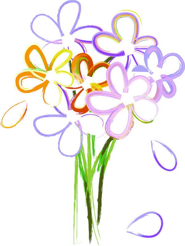 clip art of flower bouquets clipart rh worldartsme com free clipart of flowers in watercolor free clip art of flowers with no background