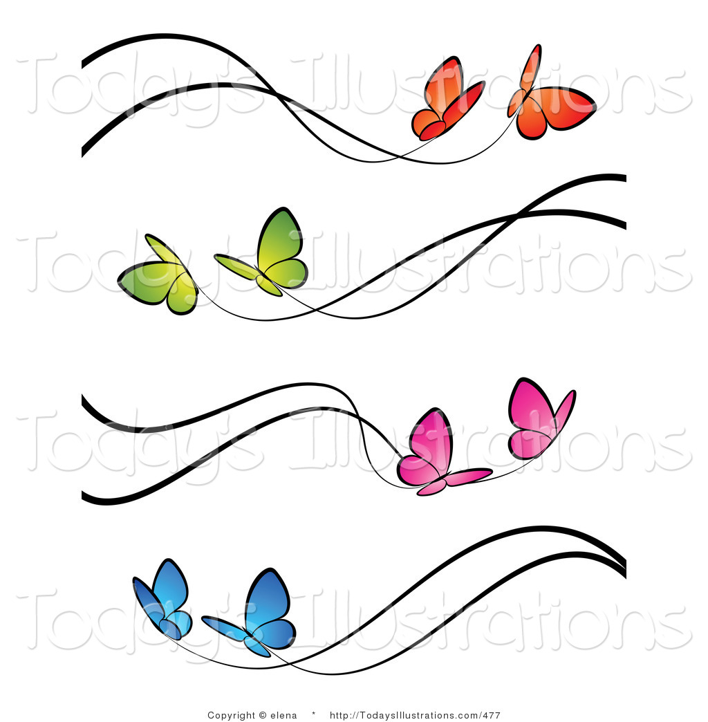 Pink Butterfly Border | Clipart Panda - Free Clipart Images