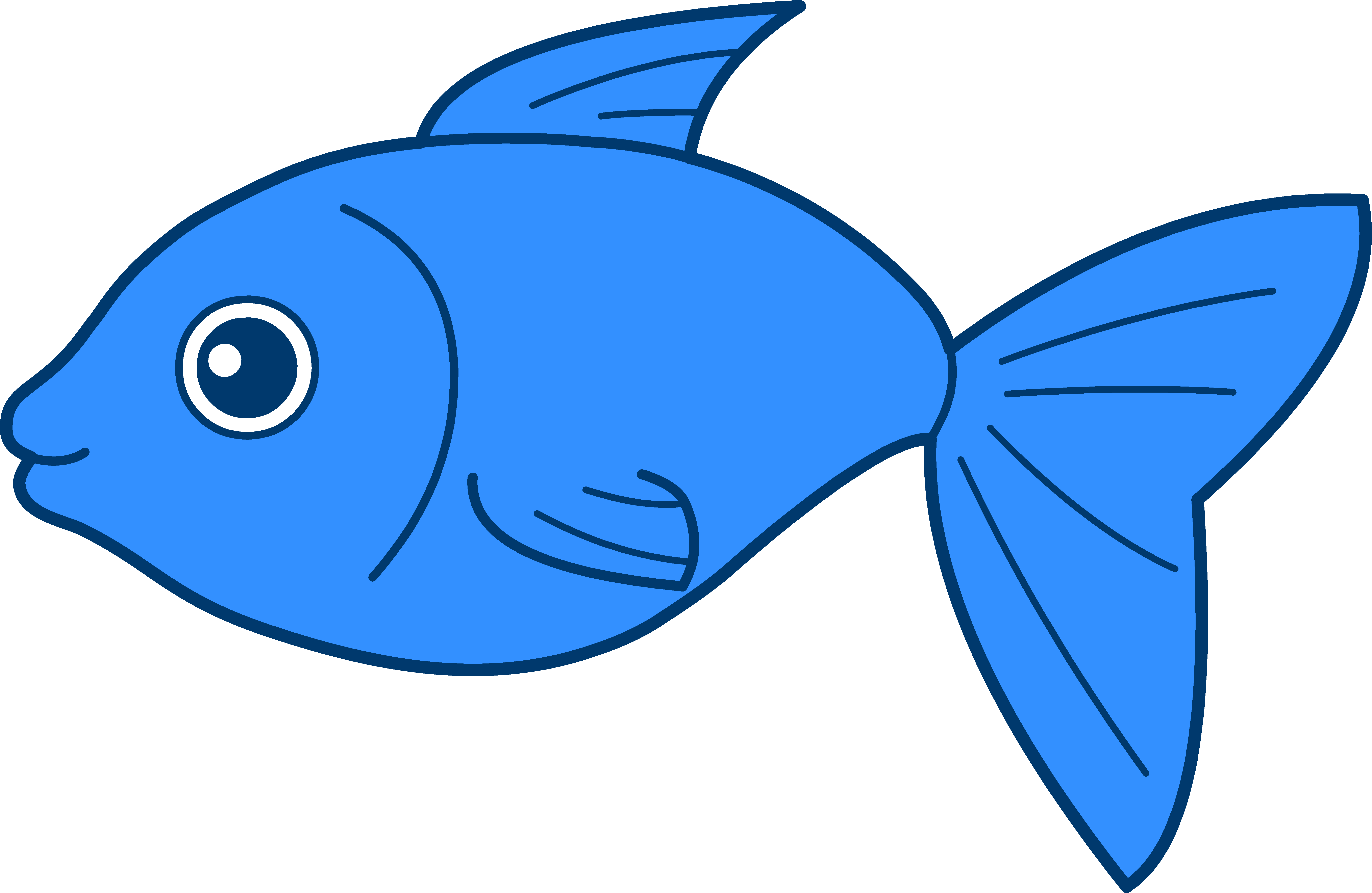 Blue fish clip art clipart panda free clipart images for Printable fish pictures
