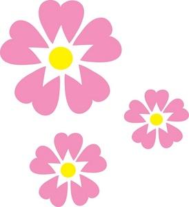 Pink flowers free clipart resolution 274x300 mightylinksfo
