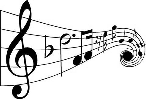 Music notes cartoon. Free clipart for teachers