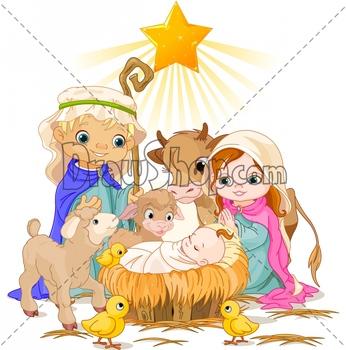 free-nativity-clipart-christmas-nativity-scene-with-holy-family ...