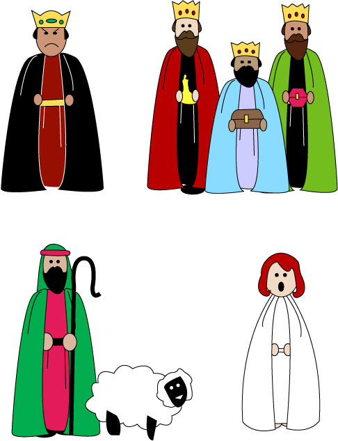 Free Nativity Clipart Black And White | New Calendar Template Site