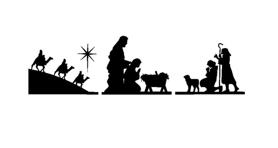 Pin Nativity Silhouette Clip