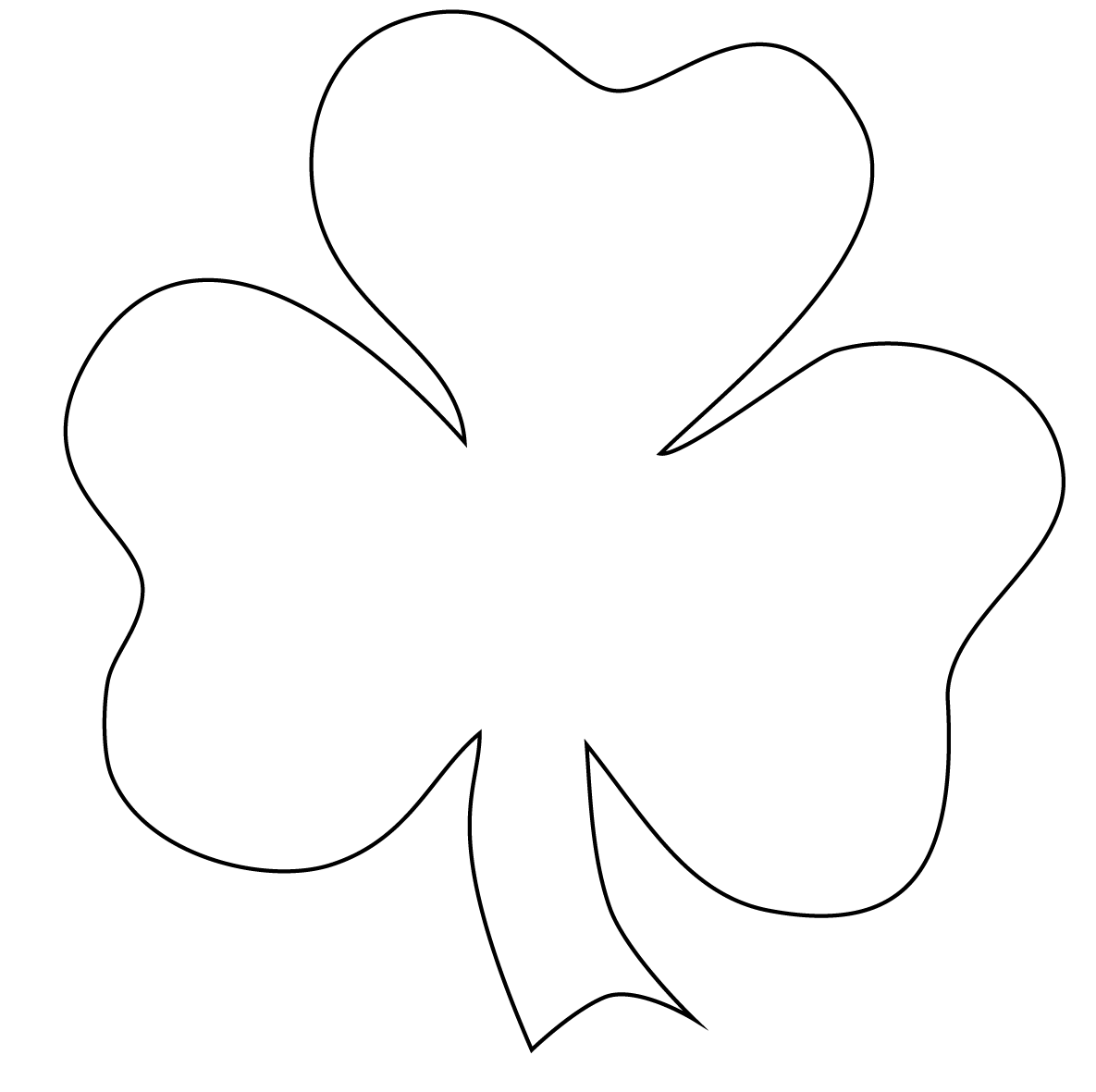 Fabulous image in shamrock template printable