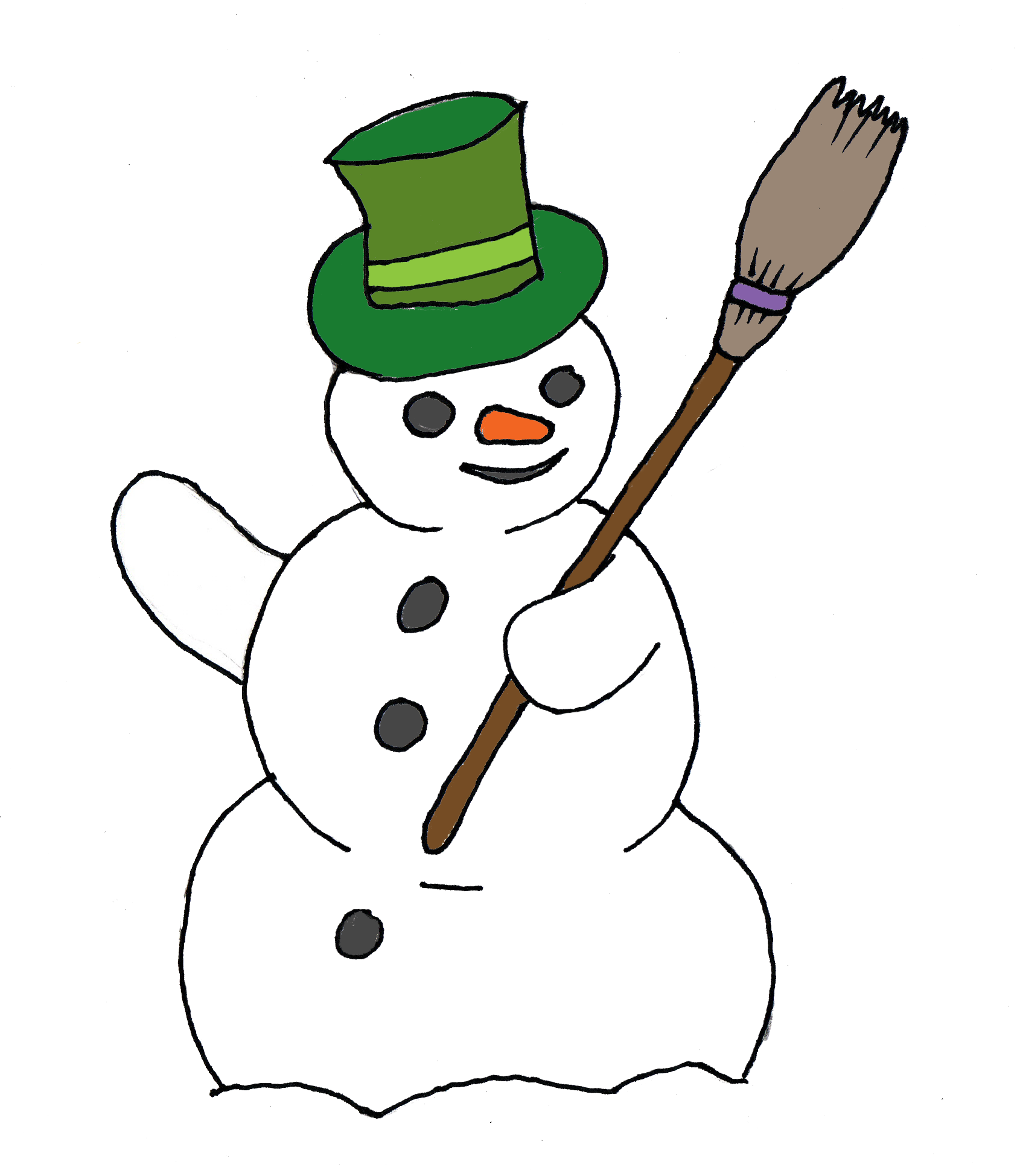 Free Snowman Clipart Black And White | Clipart Panda ...