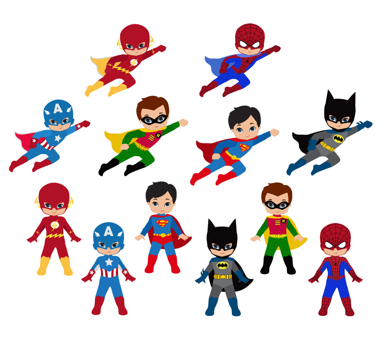 Superhero Boy Clipart Free superhero clipart