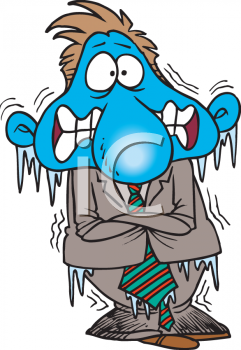Person Freezing Clipart
