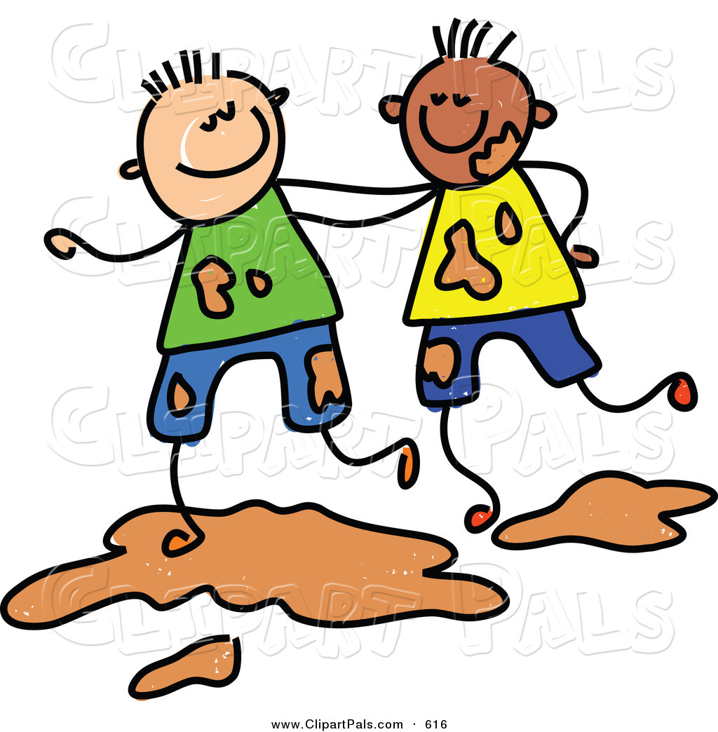 friend-clipart-pal-clipart-of-a-childs-sketch-of-two-boys-playing ...