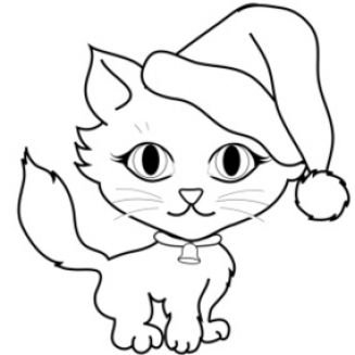 Cat clip art black and white