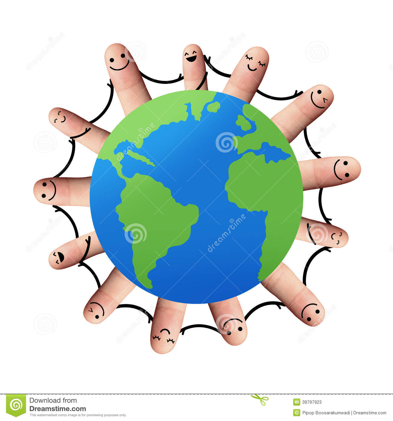 Friends Holding Hands Around The World Clipart Panda