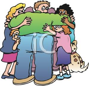 Friends Hugging Clipart   Clipart Panda - Free Clipart Images Hugging Family Clipart