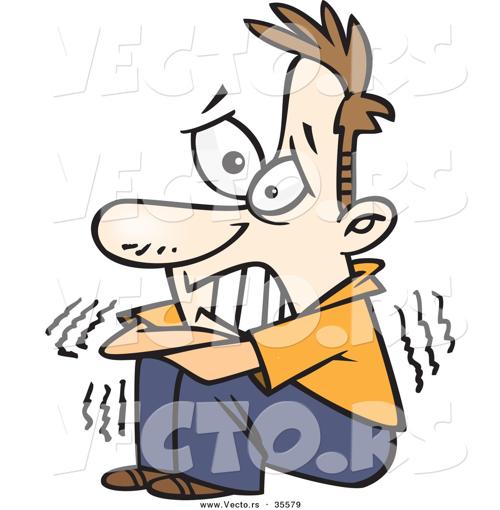 ... 0908 1722 5907 Cartoon Of A Scared Man Running For Help Clipart Image