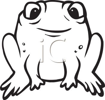 Black and white cartoon frogs - photo#11