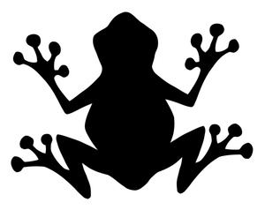 Tree Frog Clip Art Black And White | Clipart Panda - Free Clipart ...
