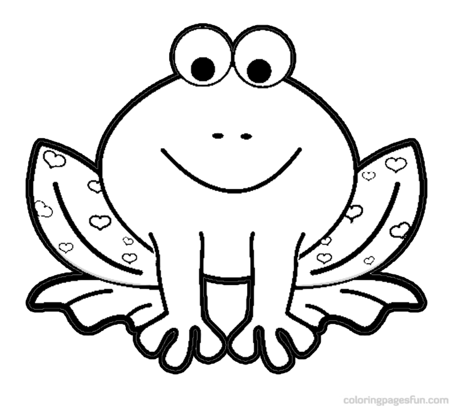 peace frog coloring pages - photo#12
