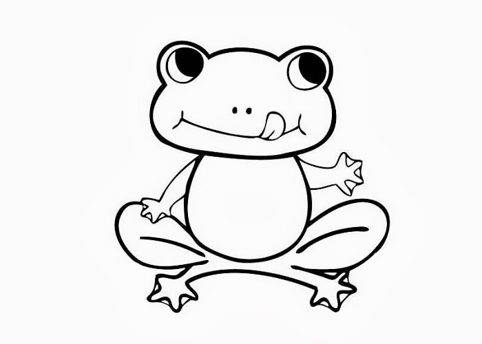 Frog Coloring Pages | Clipart Panda - Free Clipart Images